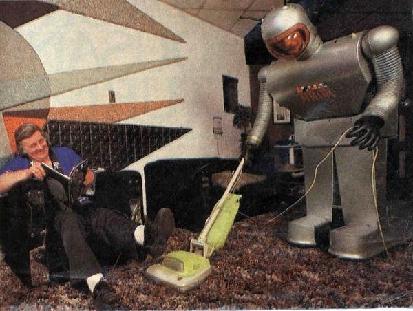 Arok vacuuming in front of Ben Skora
