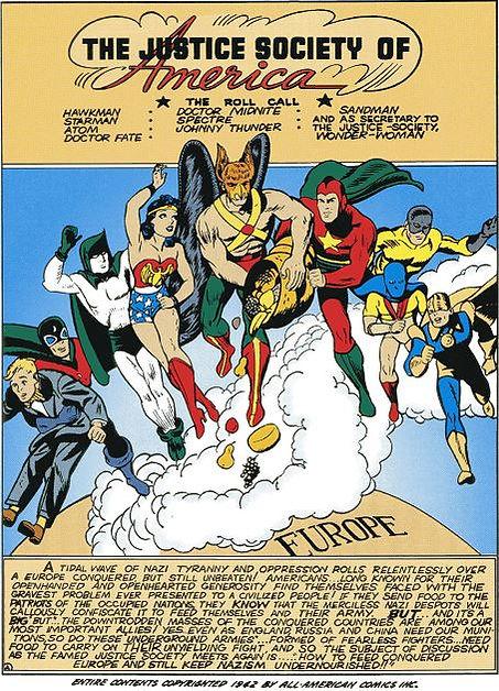 All-Star Comics 14 Dec-Jan 1942-3 splash page