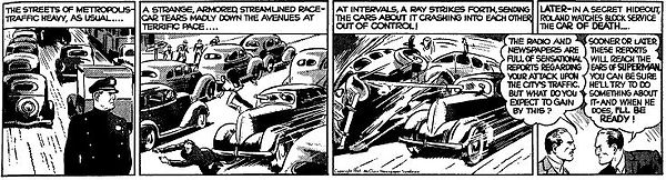 Superman daily strip, May 30, 1941
