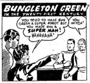 Bungleton Green inthe 21st Century January 20, 1945 panel