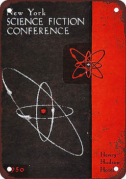 New York Science Fiction Conference metal plaque 1950