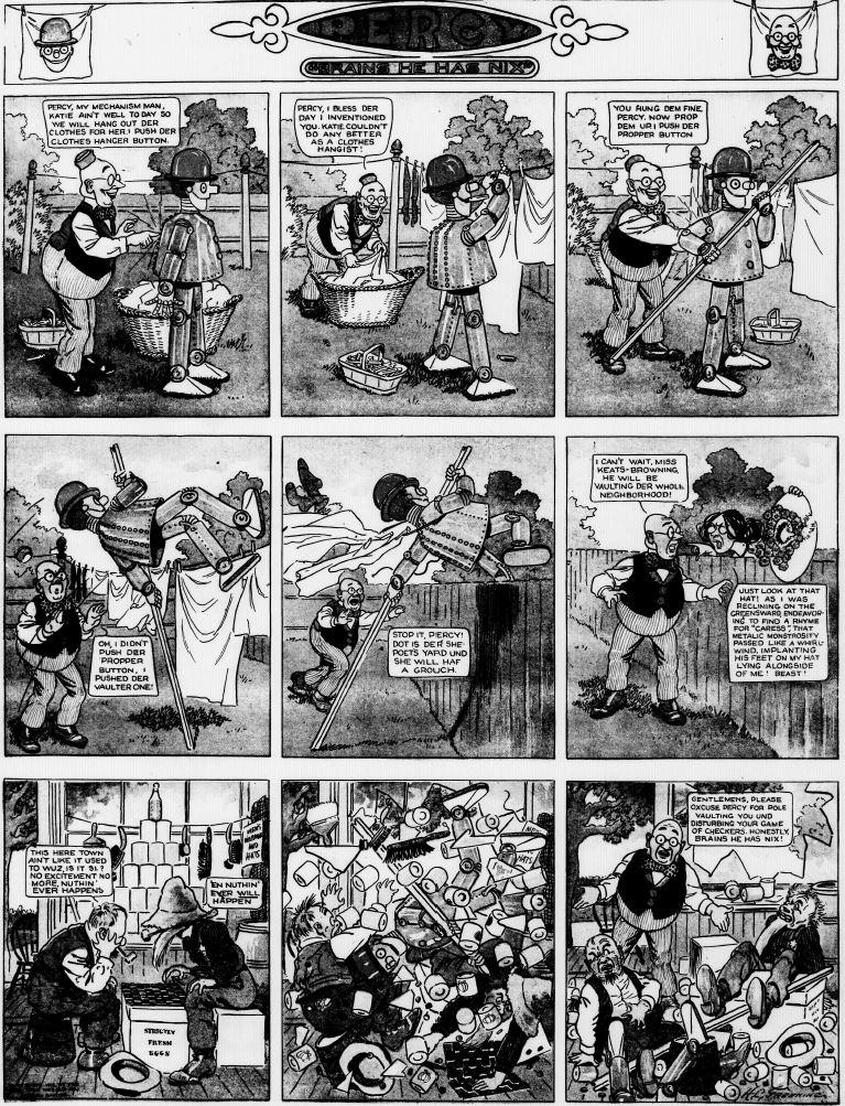19120929 [Washington, DC] Evening Star, September 29, 1912 Percy mechanical man