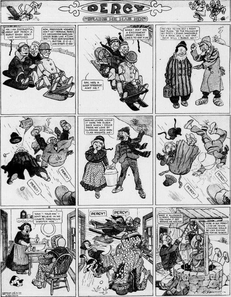19120107 [Washington, DC] Evening Star, January 7, 1912 Percy mechanical man
