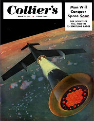 Collier's, March 22, 1952, cover by Chesley Bonestell