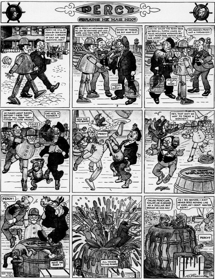 19120310 [Washington, DC] Evening Star, March 10, 1912 Percy mechanical man