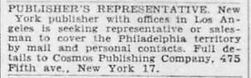 1949-06-12 Philadelphia Inquirer, p. 26 Cosmos Publishing