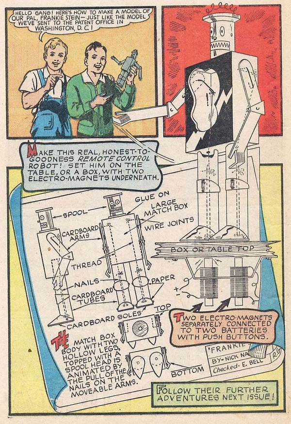 """The Coming of Frankie Stein,"" Blue Bolt #1, June 1940 p3"
