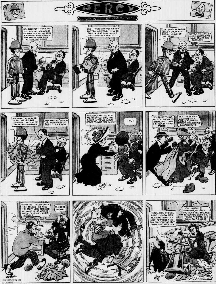 19121006 [Washington, DC] Evening Star, October 6, 1912 Percy mechanical man