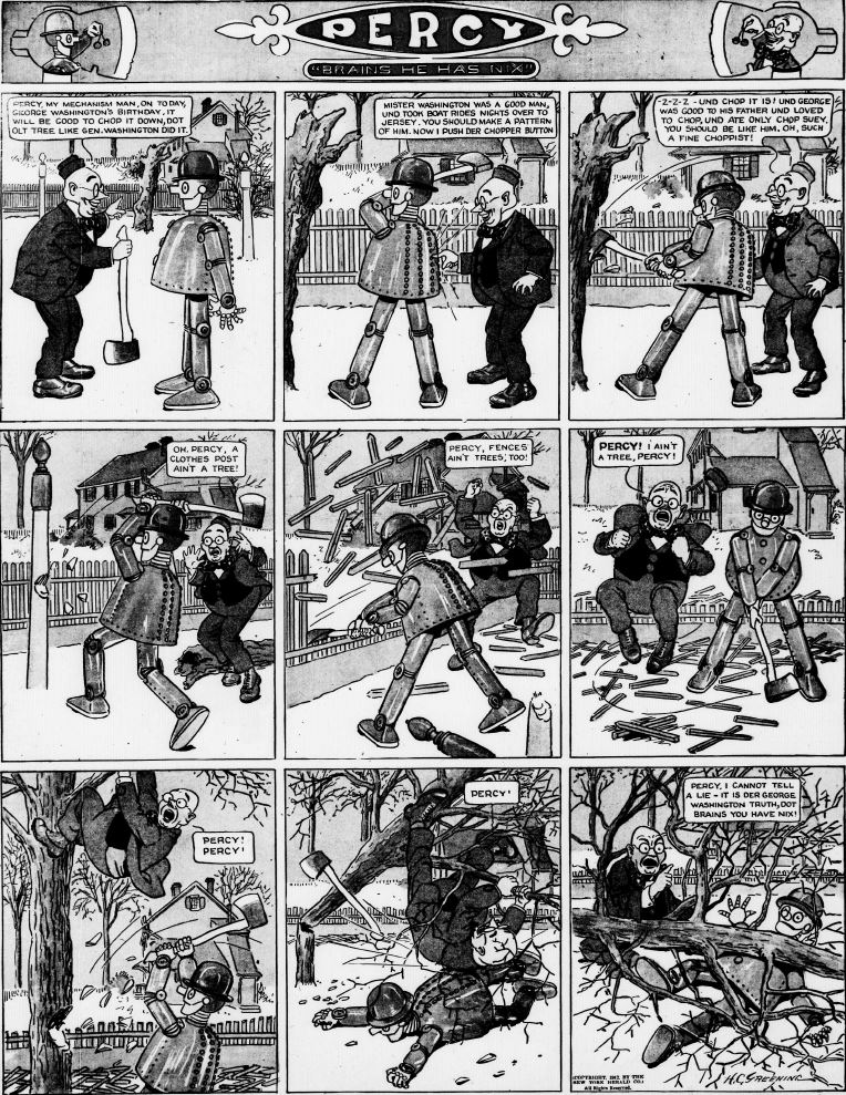 19120218 [Washington, DC] Evening Star, February 18, 1912 Percy mechanical man