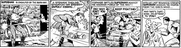 Superman daily strip, June 27, 1941