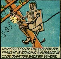 Frankie Stein panel from Blue Bolt #5, September 1940