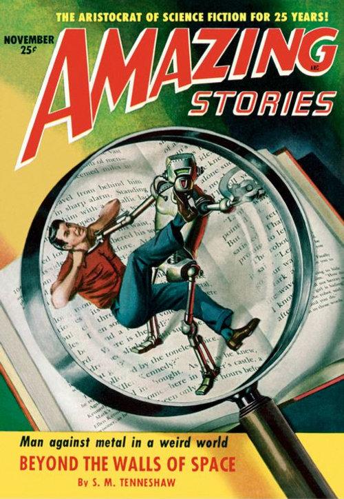 Amazing Stories, November 1951 cover art