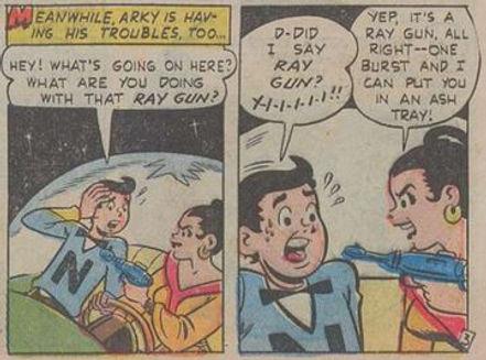 Jetta #5, Dec. 1952 My Cosmic Hero 3 panels 6-7