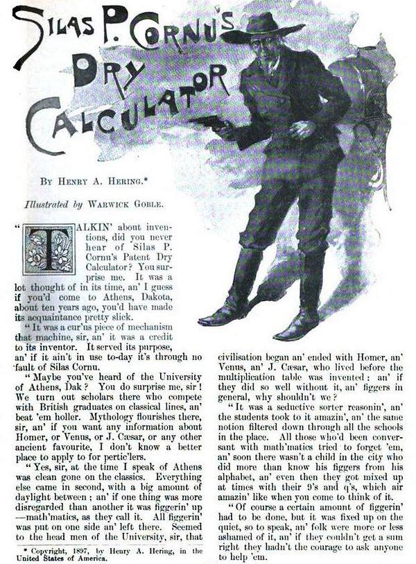 Silas P. Cornu's Dry Calculator p. 1
