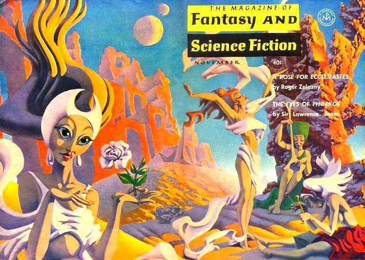 F&SF, November 1963, cover by Hannes Bok