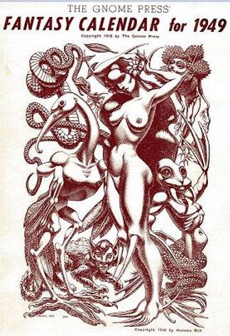 Gnome Press Fantasy Calendar for 1949, cover by Hannes Bok