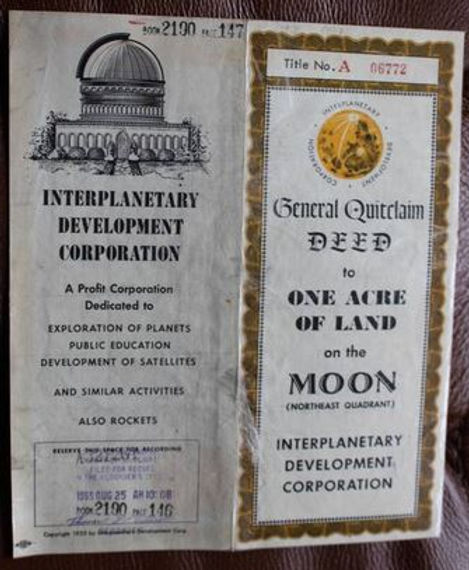 Interplanetary Development Corp quit claim deed