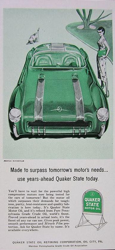 1956 Quaker State Motor Oil  Pontiac Bonneville