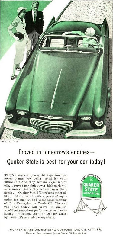 1956 Quaker State Motor Oil Chrysler Falcon