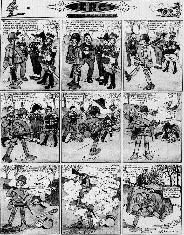 19120128 [Washington, DC] Evening Star, January 28, 1912 Percy mechanical man