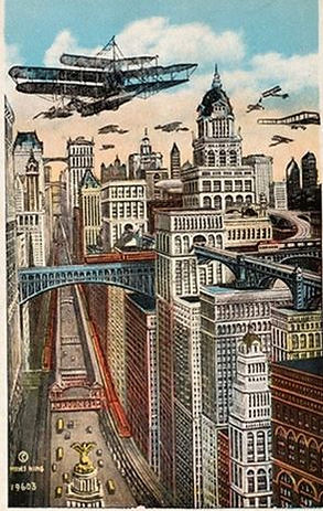 King's Views of New York 1911 colorized