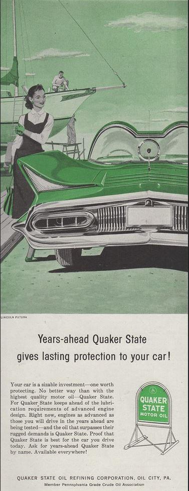 1956 Quaker State Motor Oil Lincoln Futura
