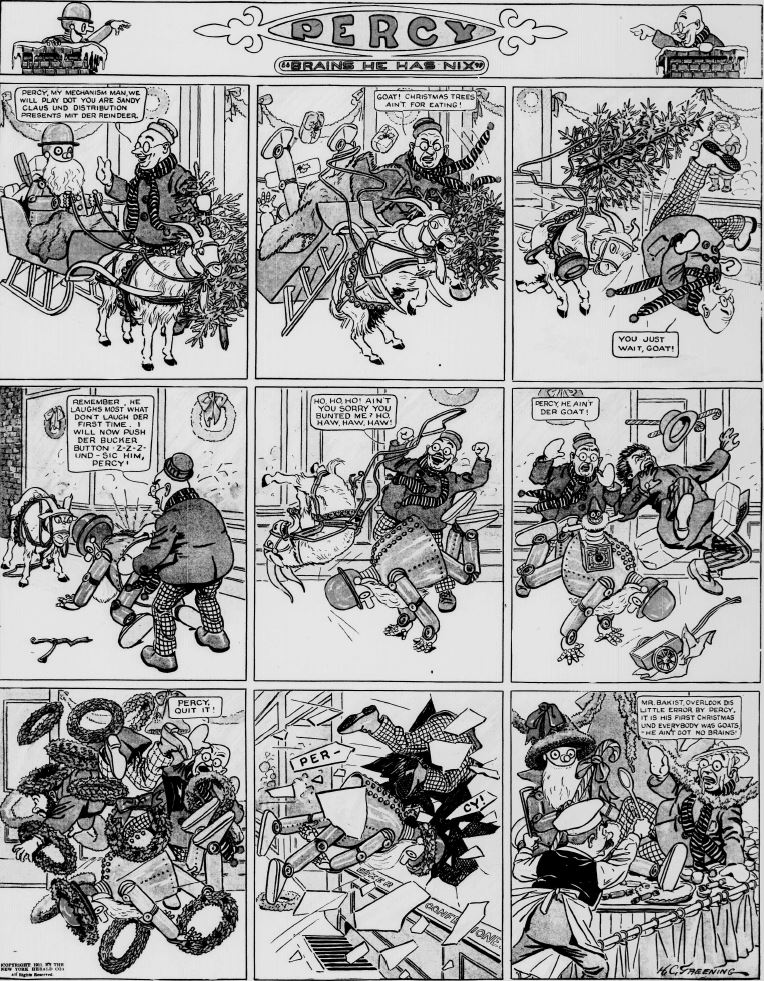 19111224 [Washington, DC] Evening Star, December 24, 1911 Percy mechanical man