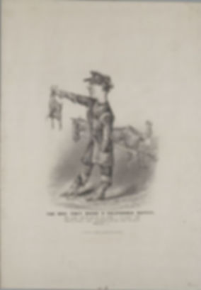 Nathaniel Currier, print, The Way They Raise a California Outfit,1849
