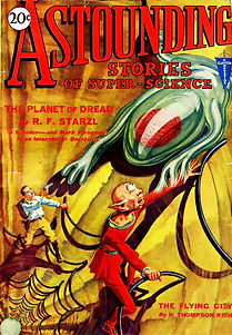 Astounding Stories August 1930, cover by H. H. Wesso