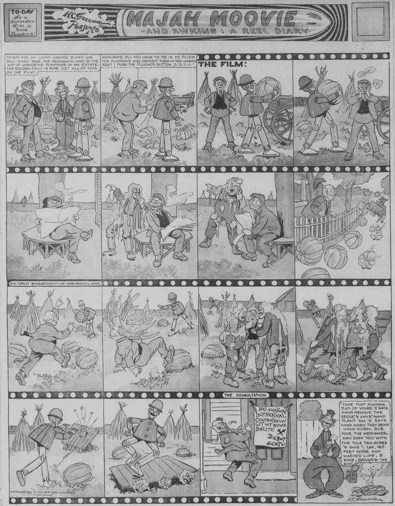 19151107 Boston Sunday Globe, Nov. 7, 1915 6 Majah Moovie Percy