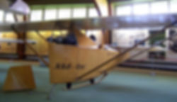 Model of rocket glider Ente in the Deutsches Segelflugmuseum