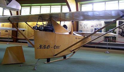 Model of rocket glider Ente in the Deutsches Segelflugmuseum