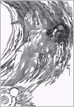 Startling Stories, Sept. 1951, House of Many Worlds, Virgil Finlay interior art 2