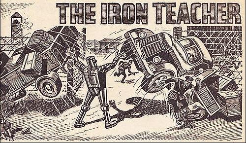The Iron Teacher smashes cars