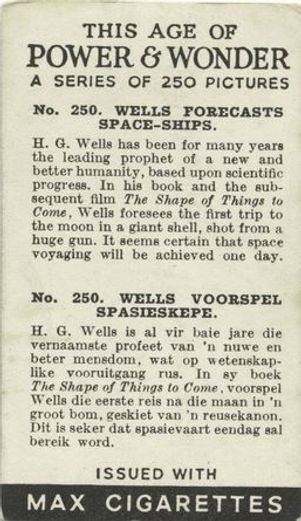 This Age of Power & Wonder #250 Wells Forecasts Space-ships