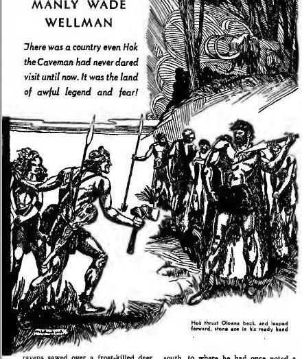 Fantastic Adventures, April 1942, Hok Visits Land of Legends