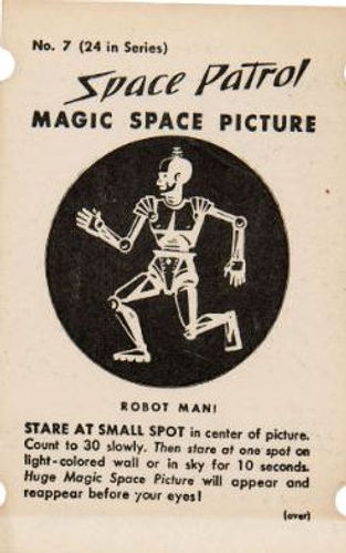 SPACE PATROL MAGIC SPACE PICTURES Robot.