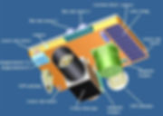 Details of Max Valier X-Ray satellite, image credit Max Valier Gewerbeoberschule