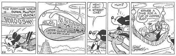 Mickey Mouse World of Tomorrow strip 8-8-44