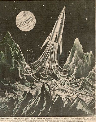 Image of moon rocket proposed by Max Valier