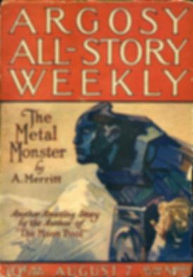 A. Merritt, The Metal Monster, Argosy Al