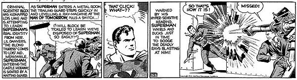 Superman daily strip, June 16, 1941