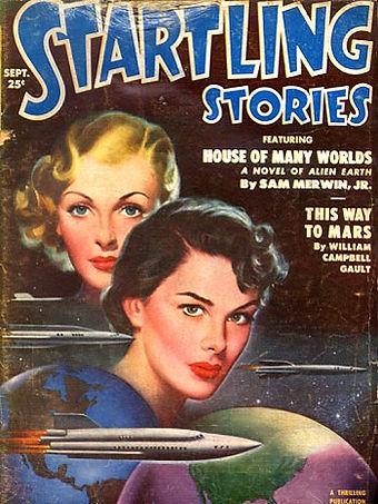 Startling Stories, September 1951, cover art by Earle Begley
