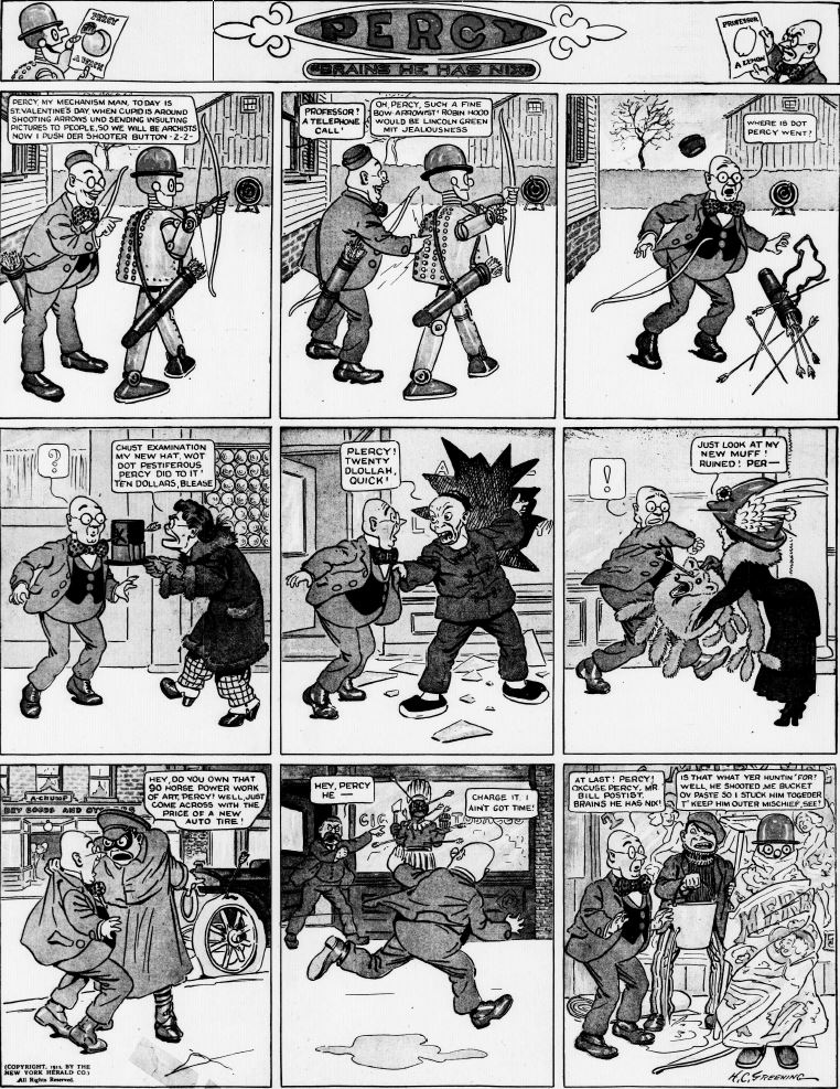 19120211 [Washington, DC] Evening Star, February 11, 1912 Percy mechanical man