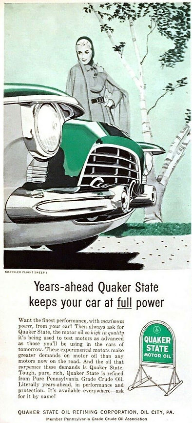 1955 Quaker State Motor Oil Chrysler Flight Sweep I