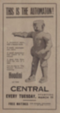 Newspaper ad for The Master Mystery
