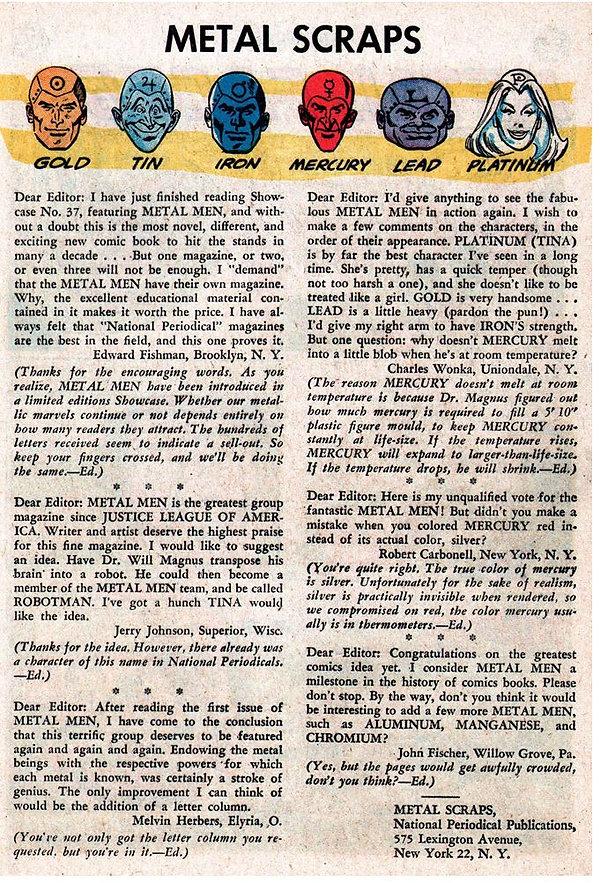 Showcase #39, July-August 1962 p27 lette