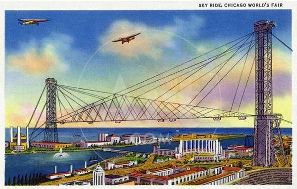 Chicago rocket car sky ride souvenir pos