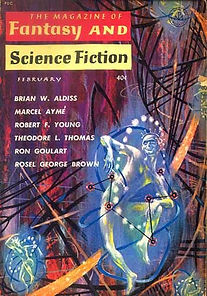 F&SF, February 1961, cover by Emsh [Ed Emshwiller]