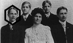 Rob Baum (circled) and his family